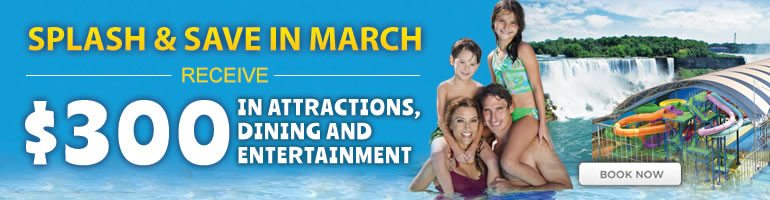 Splash and Save in March At Falls Avenue Resort