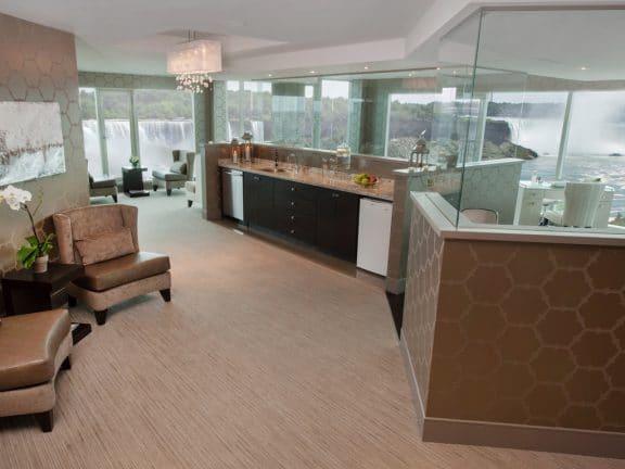 Reception Area at Christienne Fallsview Spa