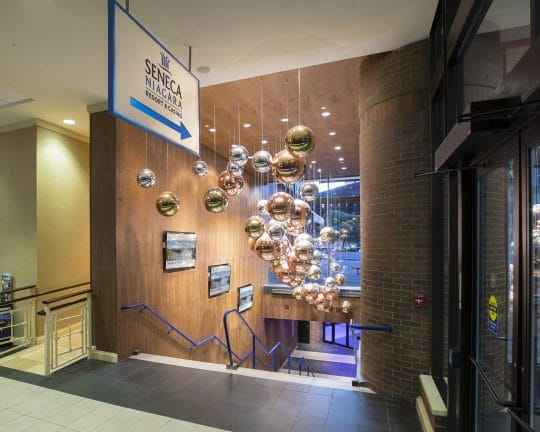 Indoor connection to Seneca Niagara Resort & Casino