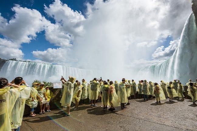 Tourists viewing Niagara Falls
