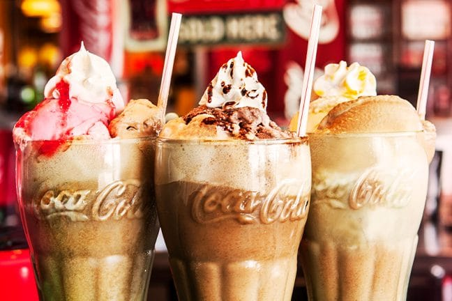 Ice Cream Floats at the Refreshing Soda Shop
