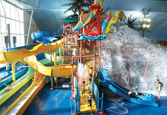 Fallsview Indoor Waterpark Beach House and Tipping Bucket