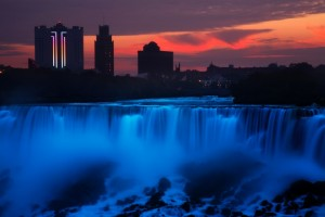 Sunrise over Niagara Falls