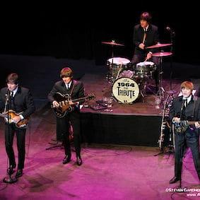 The Beatles preforming
