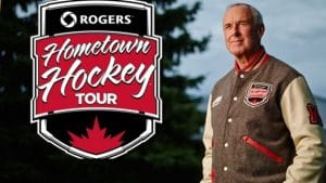 Ron Mclean host of Rogers Hometown Hockey tour
