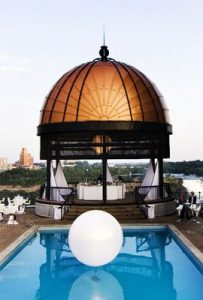 Book the Sheraton's Garden Terrace Gazebo for your Niagara Falls wedding.