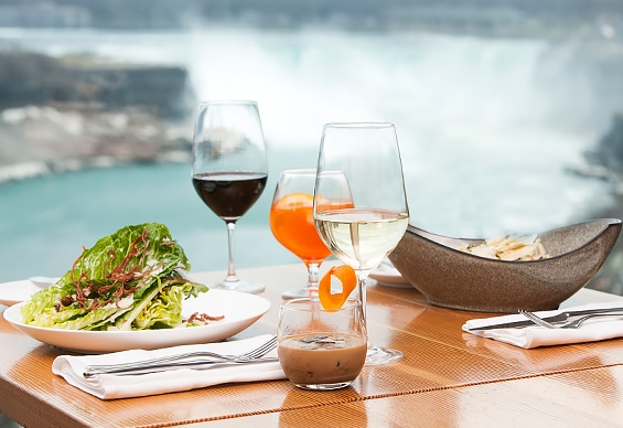 Classic Italian cuisine overlooking Niagara Falls