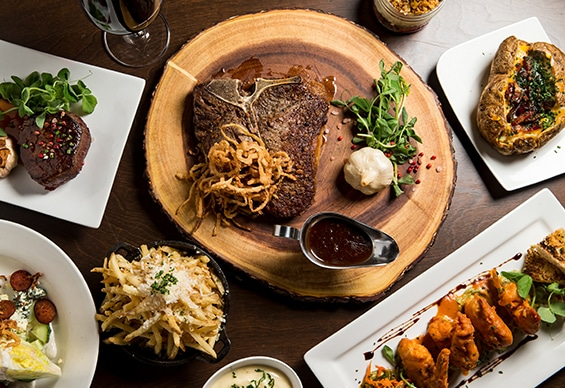 Wide selection of steak and seafood