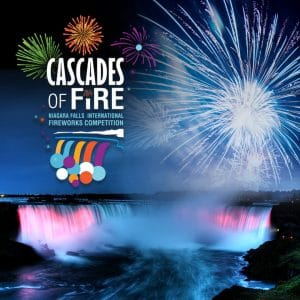 Cascades of Fire International Fireworks Competition in Niagara Falls.