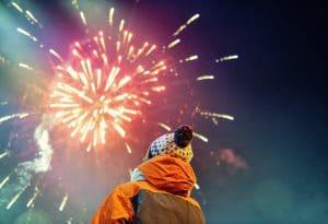 Fireworks in Niagara Falls