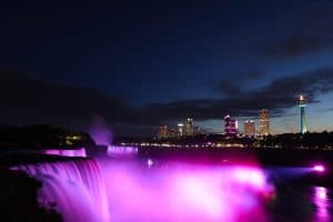 Niagara Parks - Pink Illuminated Falls