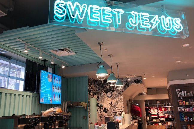 Sweet Jesus Store Front located in Sheraton on the Falls