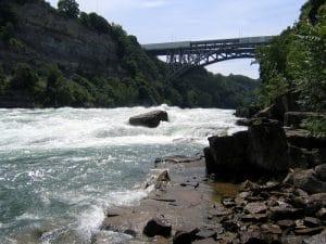White Water Rapids near bridge