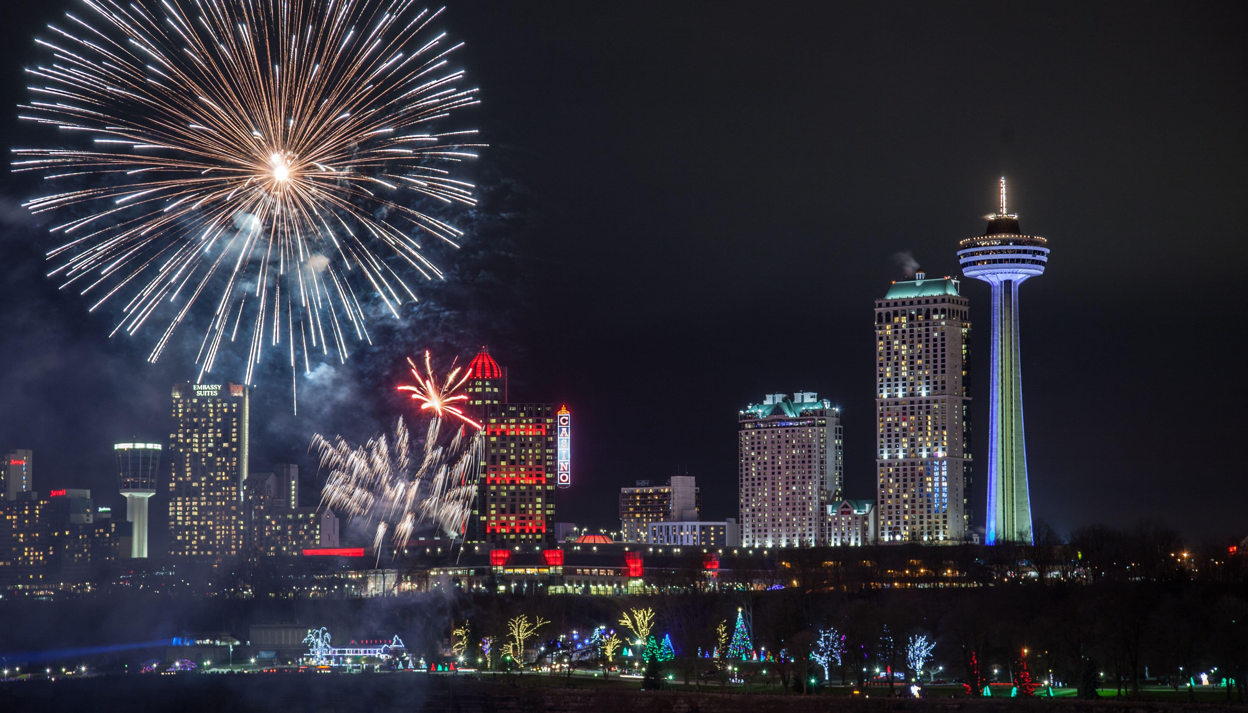 2019 20 Niagara Falls Opg Winter Fireworks Series Presented