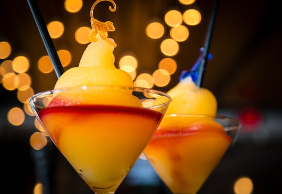 Frozen Bellinis at Milestones on the Falls