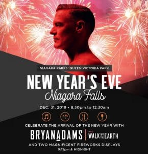 Bryan Adams to Headline Free New Year's Eve Concert