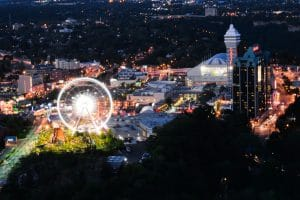 Ariel view of Clifton Hill