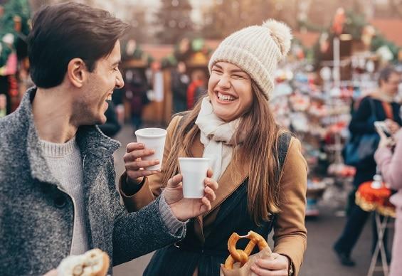Couple at Holiday Market